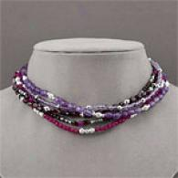 Multi Strand Berry Stone Necklace