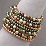 Multicolor Eight-row Fresh Water Pearl Bracelet