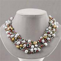 Multicolored Freshwater Pearl Layered Necklace