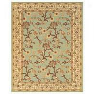Mystic Blue Floral Vine Traditional Yard Rug