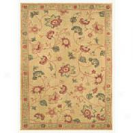 Natural Beauty Aura Floral Area Rug