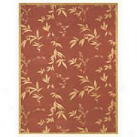 Natural Beauty Terra Cotta Floral Area Rug