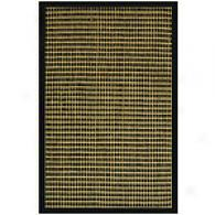 Natural Black Cotton Border Jute Rug