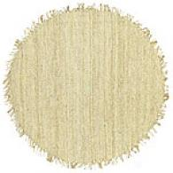 Natural Bleached Jute Round Rug