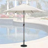 Natural Canvas Market Umbrella With Aluminum Rod