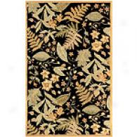 NatureB lack Hand Tufted Wool Rug