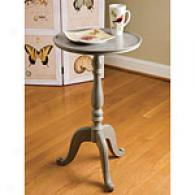 Natures Wonder Grey Wood Pedestal Table
