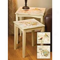 Natures Wonder Set Of 2 Nested Tables