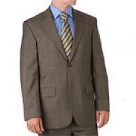 Nautica Brown Plaid Sharkskin 2 Button Suit