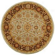 Neer Tobacco Round Hand Knotted Wool Rug