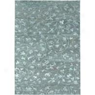 Newell Sky Blue Hand Knotted Wool & Silk Rug