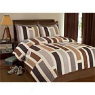 Newport Color Block Cotton Quilt Set