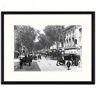 Nice, Avenue De La Gard Framed Print