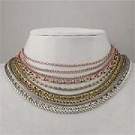Nicole Miller Brase Multi Chain Necklace