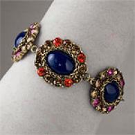 Nicole Miller Cobalt Cabochon Toggle Bracelet