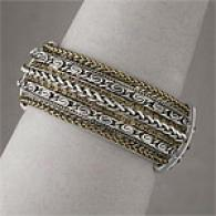 Nicole Miller Silver Tone Brass Bangle