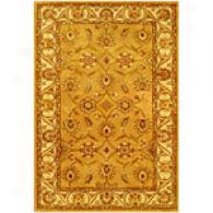 Nina Collection Gold Hand Tufted Wool Blend Rug