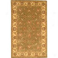 Nina Collection Green Hand Tufted Wool Rug