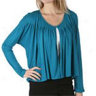 Nine West Pleated Fly Away Cotton Blend Cardigan