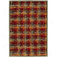 Nourison Aspects Basketweave Multicolor Wool Rug