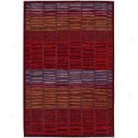 Nurison Aspects Burgundy New Zealand Wool Rug