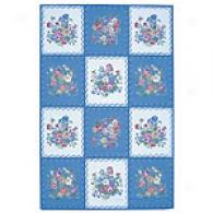 Nourison Bijoux vIory And Blue Wool Square Rug