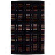 Nourison Spectrum Black Shutter Wool Rug