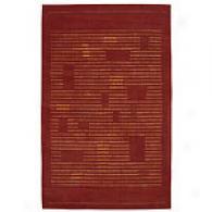 Nourison Spectrum Rust Code 100% Wool Rug