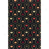 Odyssey Black Wool Rug