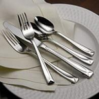 Oneida Linden 45pc Stainless Steel Flatware Set