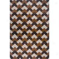 Orleans Brown & Orange Hand-woven Wool Rug