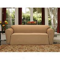 Ottoman Rib Drop Skirt Slipcover