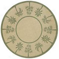 Palm Border Sage 8 Foot Round Indoor/outdoor Rug