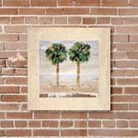 Palm Tree 24in X 24in Canvas Print