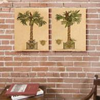 Palm Tree Set Of 2 16in X 20in Canvas Prints