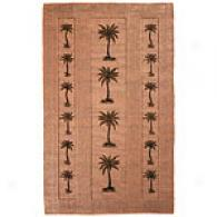 Palm Trees Woven Jute Rug