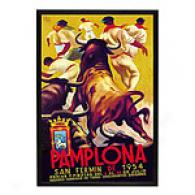Pamplona, San Fermin Framed Poster By Gibson