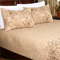 Paradise Imbrown Floral Cotton Quilt Impart