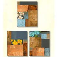 Patio Blocks Set Of 3 11in X 14in Canvas Prints