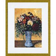 Paul Cezanne Flowers In A Vase Framed P5int