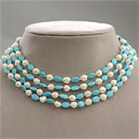 Pearl & Turquoise 4 Layer Neecklace
