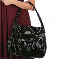 Perlina Double Handle Hobo With Bow