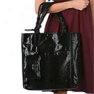 Perlina Python Embossed Tote