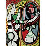Picasso Girl Before A Mirroor Canvas Wrap Painting
