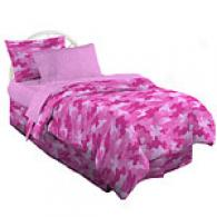 Pink Camouflage Bed In A Sack