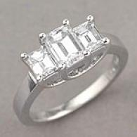 Platinum 1.96 Cttw. Emerald Cut Diamond Ring