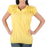 Population Bubble Sleeve Blouse