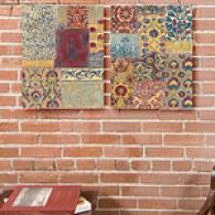 China Mosaic Set Of 2 Canvas Prints
