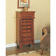 Powell English Brown Jewelry Armoire