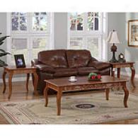 Powell Set Of Three Caramel Coffee &  End Tables